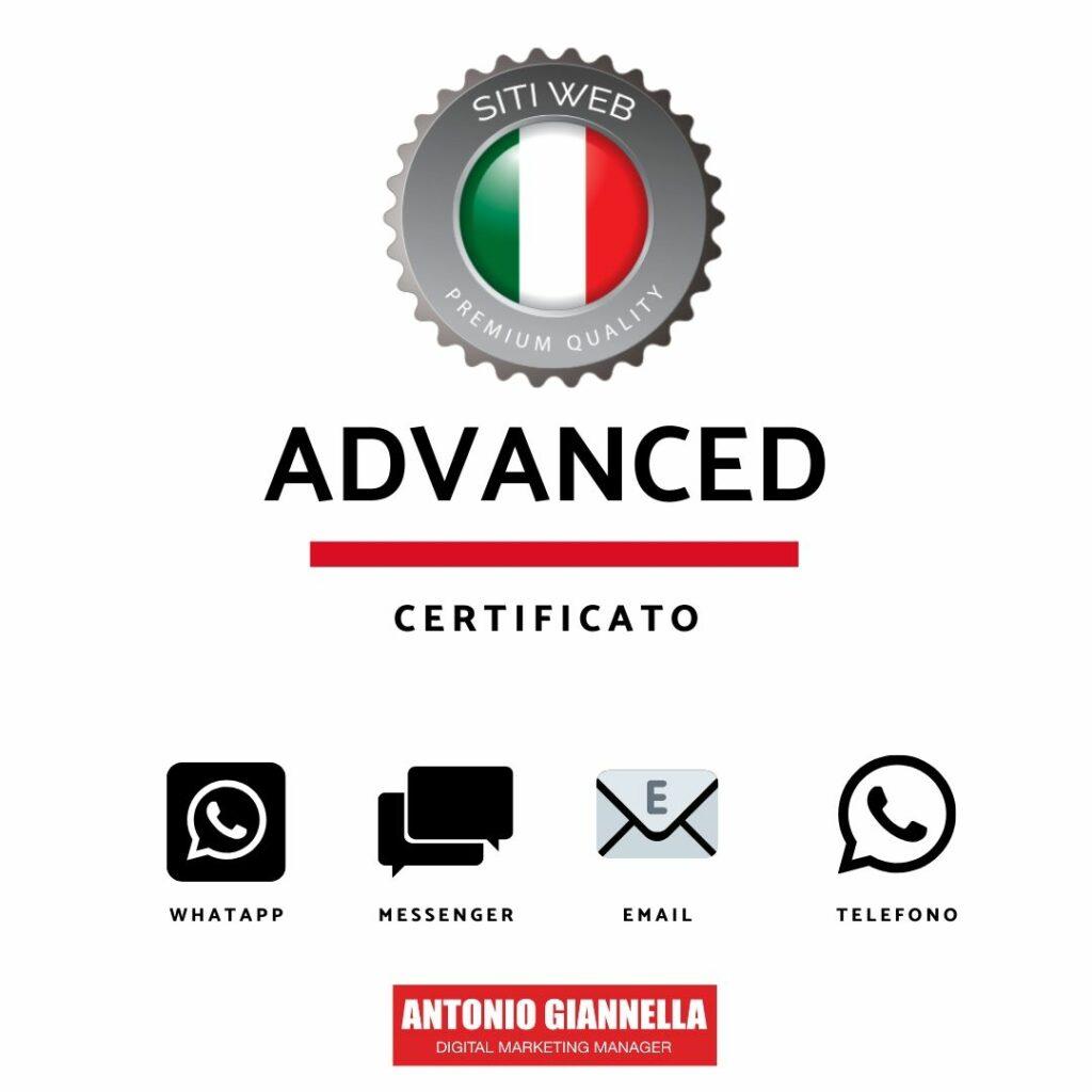 creazione sito advanced pack