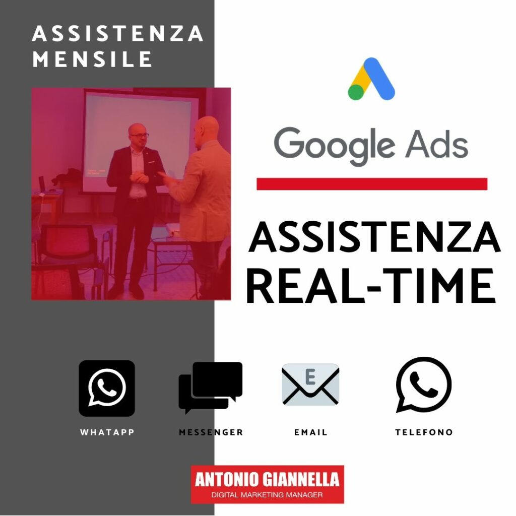 assistenza google ads mensile