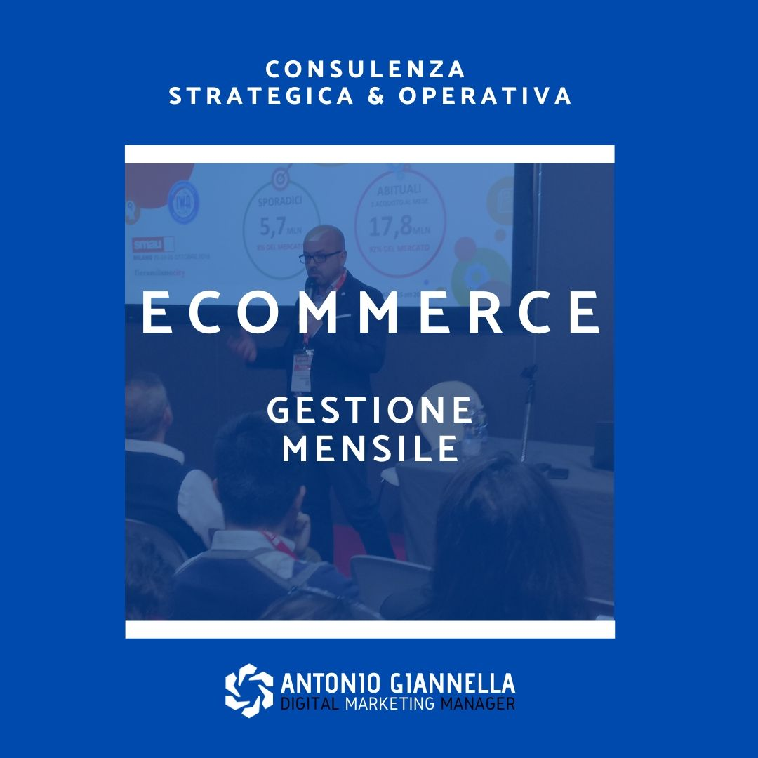 gestione ecommerce mensile