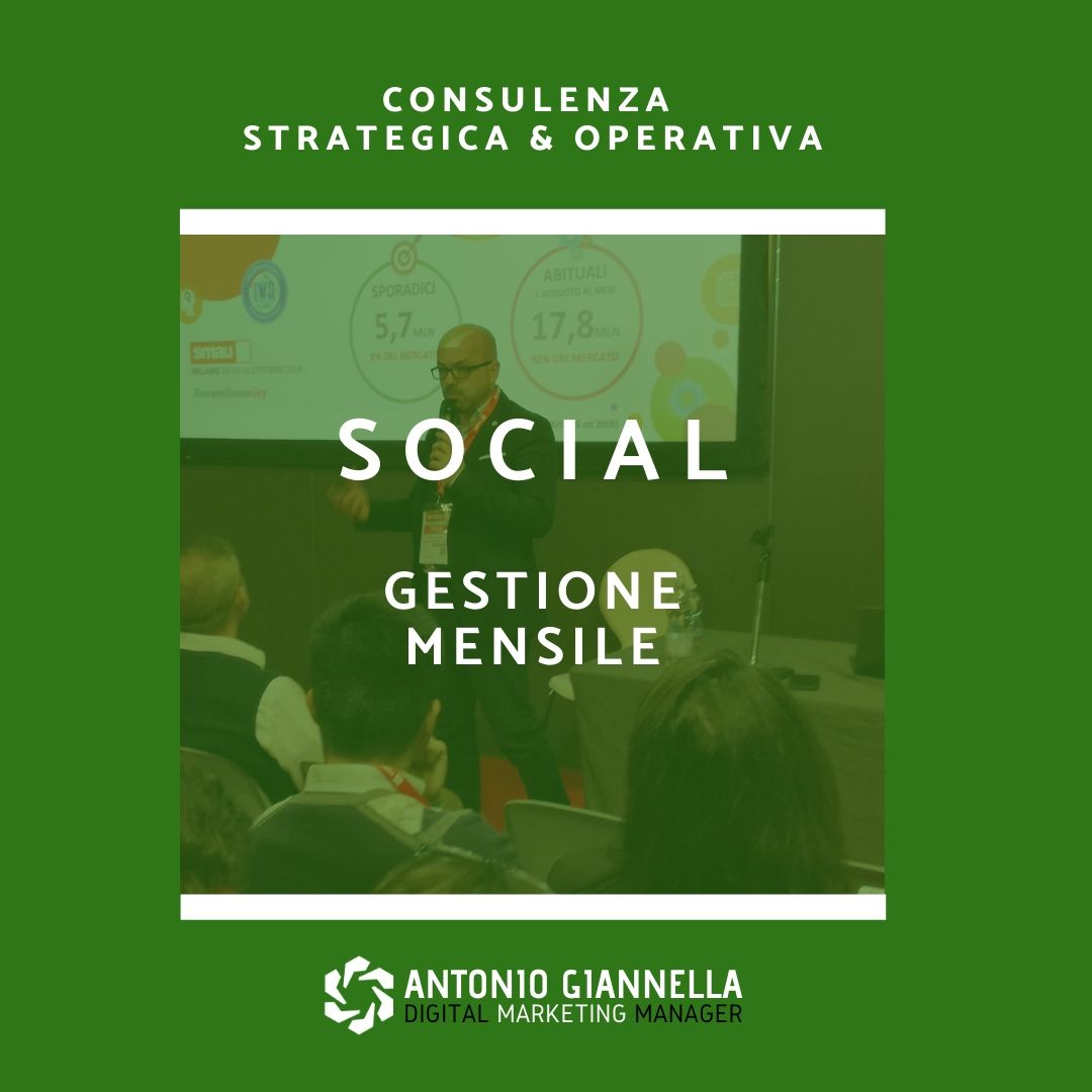 gestione social mensile